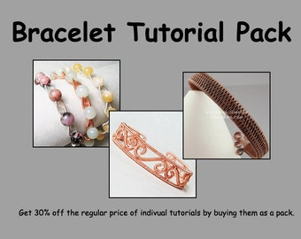 Bracelet Tutorial Pack - Wire Jewelry Tutorials - Save 30%