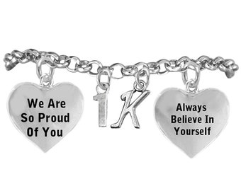21513B2 - Running Themed Inspirational 3 Charm Bracelet
