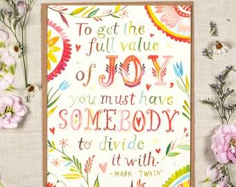 Full Value of Joy - Greeting Card