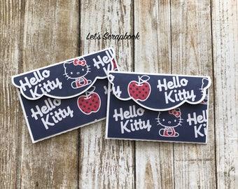 Gift Card Holders, Hello Kitty Gift, Birthday Card Holders, Birthday Gifts, Hello Kitty, Thank You Gifts, Handmade Gifts, Hello Kitty Party