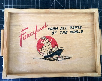 Fancifood from Parts of the World small wood tray  w lil handles and a big ship