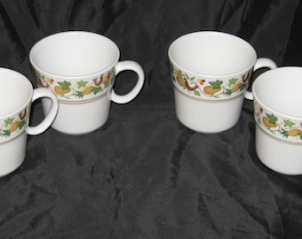 Vintage Homecoming By Noritake 4 Cup Set