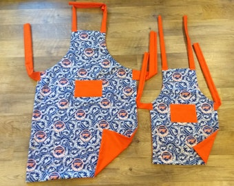 Daddy/Son Mets apron set