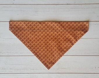 Waffle Dog Bandana, Over the Collar Dog Bandana, Dog Accessories, Pet Fashion, Breakfast, Waffles, Food, Snacks