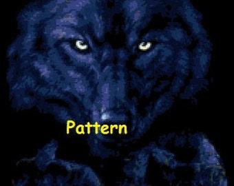 Purple wolves. Cross Stitch Pattern. PDF Files.