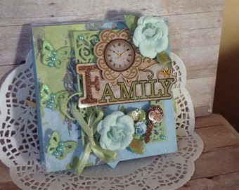 Family Hand-made Scrapbooks 3D Inspired