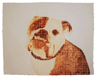 Custom Ink and Watercolor Painting | Commission Painting | Pet Portrait