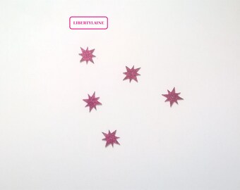 Applied five seconds star flex Fuchsia glitter