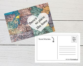 Moving Postcard, There's No Place Like Home, New Address Postcard, We've Moved, Moving Announcement, New House, Digital Download