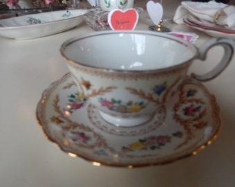 ENGLAND CROWN STAFFORDSHIRE Teacup and Saucer Set