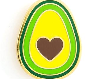 Avocado Heart Enamel Pin