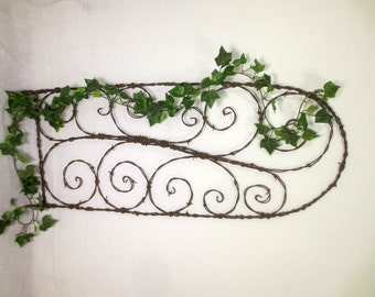 Sexy  Spirals  Barbed Wire Trellis Made To Order