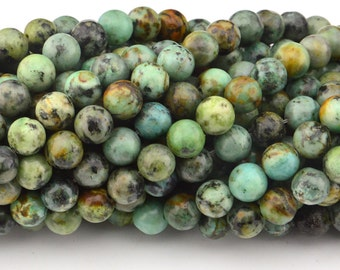 16  inch   African Turquoise beads ,  Turquoise Round Beads