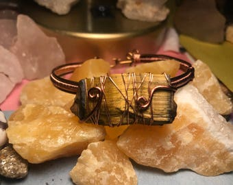 Tiger's Eye Big Cat Bracelet