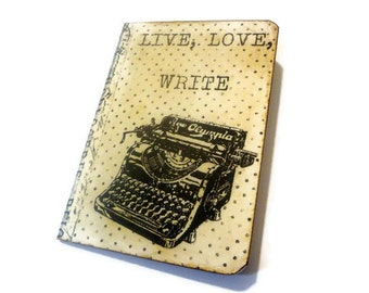 Vintage Typewriter Journal, Retro Journal, Mini, Writer's Journal, Gifts For Writers, Pocketbook, Graduation or Teachers Gift