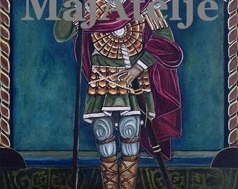 Saint George, Orthodox icon, Handpainted, Oil on canvas, Art for digital download, Printable
