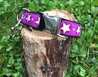 "Dog necklace ""Star Purple"""
