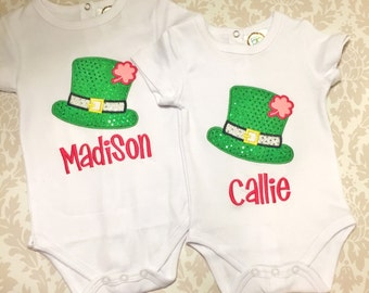 St Patricks Day Shirt! Girls St Patricks Day Shirt, Monogram St Pattys Day Shirt, Personalize St Patricks Day Shirt, bling shirt sequin