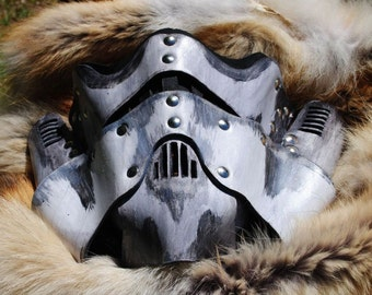 Bone Leather Steampunk Trooper Motorcycle Mask