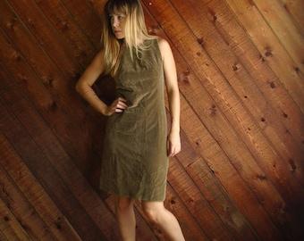 Golden Apple Vintage 60s Sleeveless Velvet Mini Shift Dress - SMALL 2 4