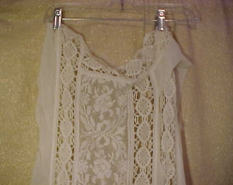 Antique lace panels (two) from Victorian White Cotton Dress, plus pcs   3368
