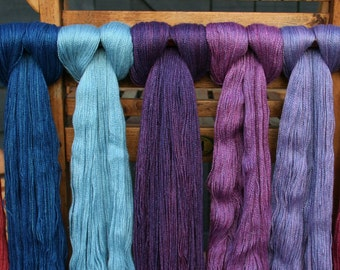 Framlingham - Blue Faced Leicester Silk Lace - Natural Dyed Yarn from Native Yarns