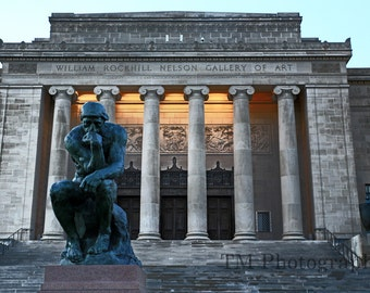 Nelson Art Gallery - Nelson Atkin Museum - Museum - Statue - The Thinker - Kansas City Museum - Kansas City, Missouri, Fine Art Photography