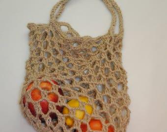 HEMP knit bag/ hemp cloth/ handmade/organic knit bag/ 100% hemp/ market bag/ organic bag/eko-bag/Travel bag