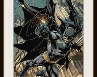 Batman 2, cross stitch pattern, cross stitch Batman, Batman pattern, cross stitch, Batman, PDF pattern - instant download!