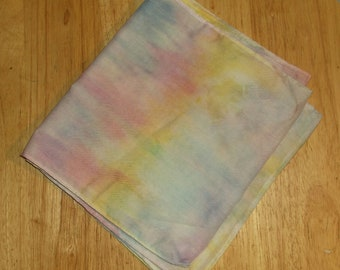Head scarf pastel hand dyed fashion hair accessory