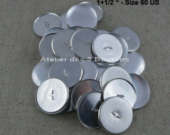 """25 Cover Buttons 1.1/2"""" (Size 60)"""
