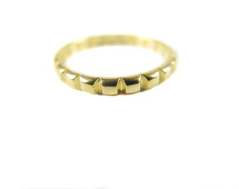 Gold Plated Cable Chain Ring (1x) (K751)