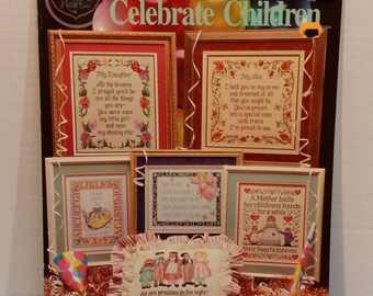 Celebrate Children 9 Counted Cross Stitch Patterns By Cross My Heart