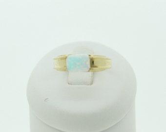 9ct Gold Cultured Opal Ring (SKU253)