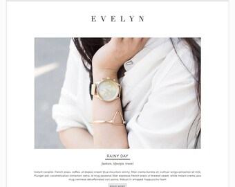 "Wordpress Theme Responsive Blog Theme Design ""Evelynr"" - Stylish and Edgy"