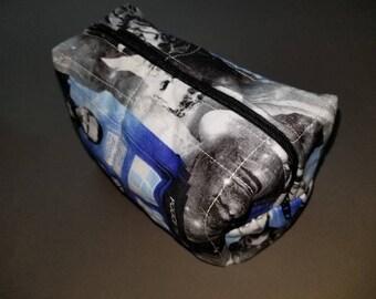 Doctor Who/TARDIS/Doctors 9/10/11/12 toiletry/cosmetic/art supply bag