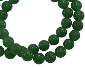 Natural Green Aventurine Round Gemstone 4mm 6mm 8mm Loose Beads