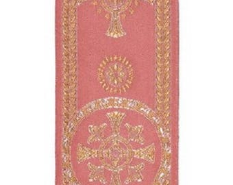 Religious trim for liturgical vestments color pink