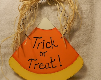 Hanging Trick or Treat Candy Corn