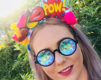 Pop art flower Crown