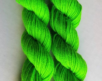 "Mini Skeins - ""BRIGHT SPRING GREEN"" - Perfect for that pop of color, heels, toes and cuffs for socks, colorwork or any small project!"