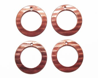 4 rings copper charms 21 mm