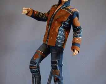 Sale! Denim Jacket for 5th Motif, Iplehouse EID, Soom ID72, Dollshe 28M, Impldoll Idol72, doll jeans, bjd pants, doll clothes, bjd jeans