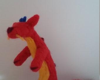 dragon needle felted figure mushu inspired Mulan
