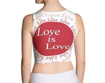 Love is Love Crop Top, Love is love shirt, Love is Love, Love is Love Tee, Lesbian Birthday, Lesbian Couple, Lesbian Gift, Lesbian Girlfrien