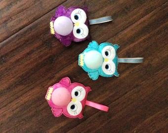 EOS Owl Lip Balm Holder, Key Chain, Chap stick Holder