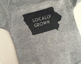 Locally Grown baby one piece-choose your state