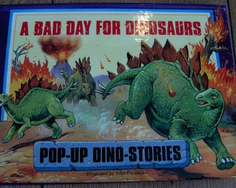 children's pop up book A Bad Day For Dinosaurs
