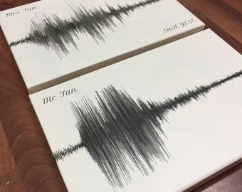 She Said Yes! He Said Yes! - Sound Wave Art