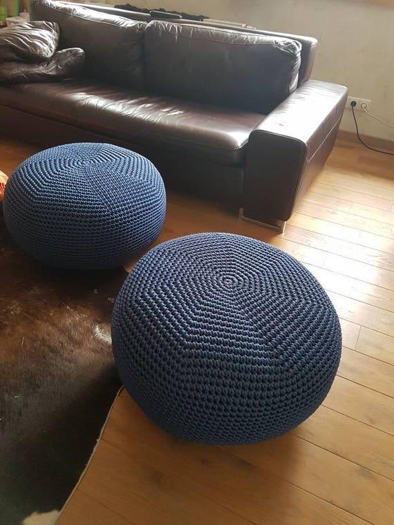 Blaue große 24\'\' Puff-Ottoman-Boden Kissen-große rosa